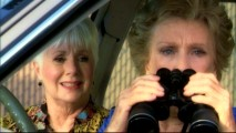 "Shirley Jones and Cloris Leachman hunt young men in the unfunny Jimmy Kimmel sketch ""Saber Tooth Tiger Town."""