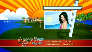 Items that represent the show and the state of Florida appear in the colorful animated DVD main menus inspired by the short title sequence.
