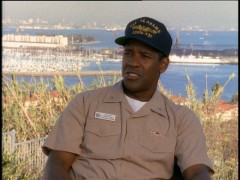 Denzel Washington discusses his character in the disc's making-of featurette.