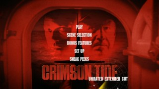 "The animated 16x9 menu looks a lot like the DVD cover of ""Crimson Tide""'s previous DVD release."