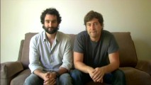 Jay and Mark Duplass, the brothers who wrote and directed the film, hold a pose in their first deleted scene introduction.