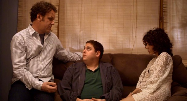 Coming between John (John C. Reilly) and Molly (Marisa Tomei), Cyrus (Jonah Hill) wonders if he shouldn't move back home.