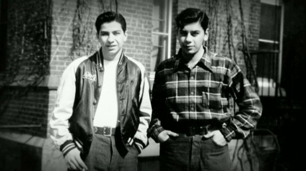 "Richard and Robert Sherman pose together for a picture as teenagers in ""The Boys: The Sherman Brothers' Story."""