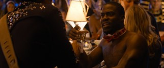Though his rising star gets him top billing, Kevin Hart has a secondary role as big talking Bernie Litko, who dresses like Magic Mike for Halloween.