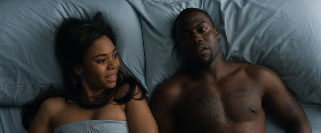 The highly sexual and antagonistic relationship of Joan (Regina Hall) and Bernie (Kevin Hart) provides a contrast to the more mature focal romance.