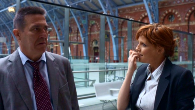 DCS Langton (Ciaran Hinds) and DI Travis (Kelly Reilly) respond to an unexpected development with a scowl and a nail bite, respectively.