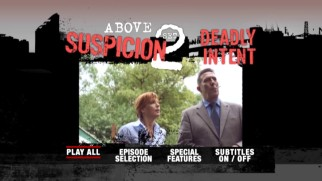 Kelly Reilly and Ciar�n Hinds look the part of TV cops in this shot from the Above Suspicion Set 2 DVD's main menu montage.