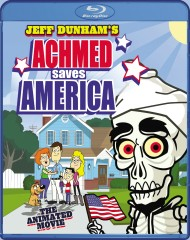 Jeff Dunham's Achmed Saves America (2014) Blu-ray Disc cover art -- click to buy from Amazon.com