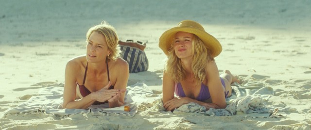 Roz (Robin Wright) and Lil (Naomi Watts) are a little too pleased by how their sons have grown up.