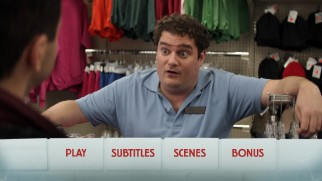 Bobby Moynihan, one of a number of recognizable actors turning up in small roles, makes a brief appearance on the Blu-ray's menu.