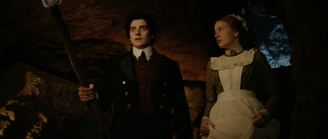 "Young hotel employees Mariah Mundi (Aneurin Barnard) and Sacha (Mella Carron) go on a daring adventure in ""The Adventurer: The Curse of the Midas Box."""
