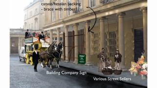 Concept graphics envision the Victorian England streets created for the film.