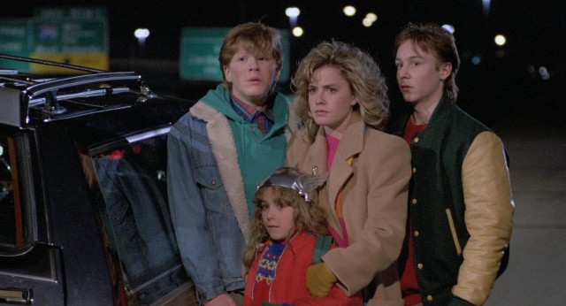 """Adventures in Babysitting"" sends three teenagers (Anthony Rapp, Elisabeth Shue, Keith Coogan) and a younger sister (Maia Brewton) into Chicago for an unforgettable night."