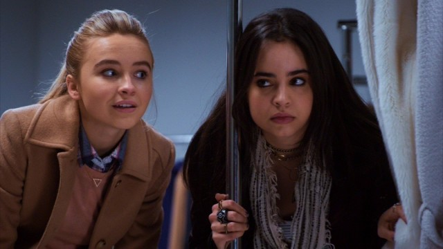 Jenny (Sabrina Carpenter) and Lola (Sofia Carson) must join forces to get through the night intact.