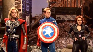 "Saturday Night Live's take on The Avengers is briefly seen in the ABC television special ""Marvel Studios: Assembling a Universe."""