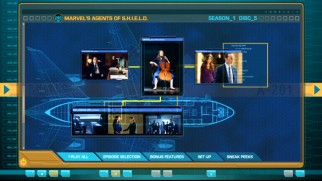 The DVD's menus are designed like S.H.I.E.L.D.'s database.