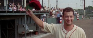 Tom Hanks gained 30 pounds to play Jimmy Dugan, a washed-up alcoholic major leaguer turned women's manager.