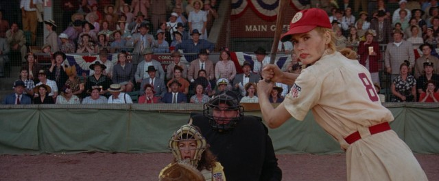 Sibling rivalry doesn't get any more intense than sister pitching to sister (Geena Davis) in the 9th inning of the deciding game of the World Series.
