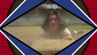 Madonna slides head first into third base on the Blu-ray's menu.
