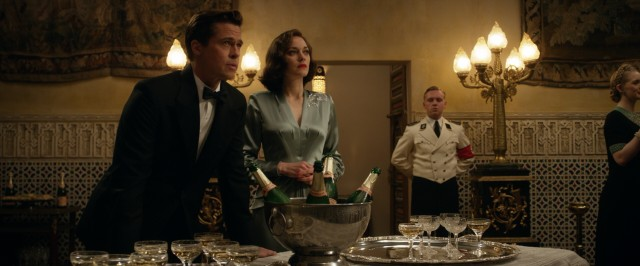 Max (Brad Pitt) and Marianne (Marion Cotillard) prepare to ruin a fancy dinner with a bit of carefully staged assassination.