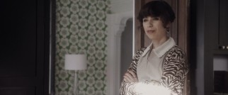 British actress Sally Hawkins gets into the accent game as compassionate Russian housekeeper Olga.