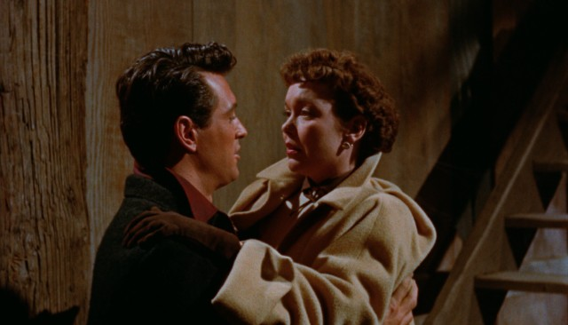 "Happiness is fleeting for Ron Kirby (Rock Hudson) and Cary Scott (Jane Wyman) in ""All That Heaven Allows."""