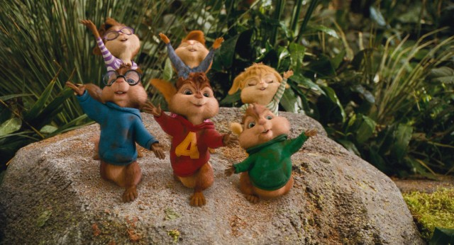 "The Chipmunks and Chipettes take a bow, having performed Lady Gaga's ""Bad Romance"" for a 10-year castaway who has no way of knowing the song."