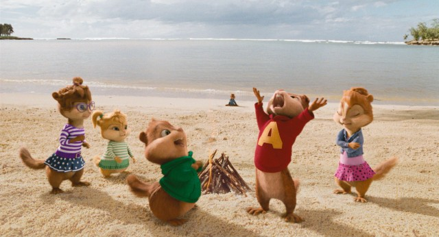 "The Chipmunks and Chipettes get stranded on a tropical desert island in ""Alvin and the Chipmunks: Chipwrecked."""
