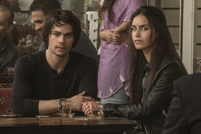 "Mitch Rapp (Dylan O'Brien) and Annika (Shiva Negar) do spy things in ""American Assassin."""