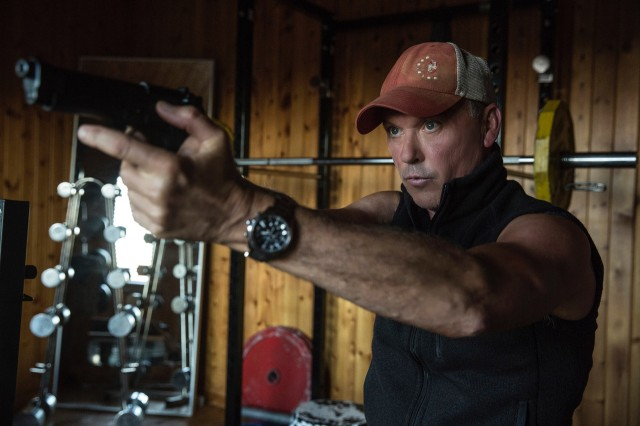 "Michael Keaton plays Stan Hurley, the CIA warrior who trains and mentors Mitch Rapp in ""American Assassin."""