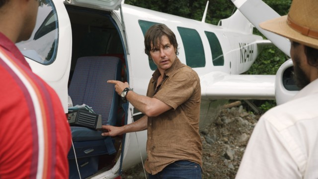 """American Made"" stars Tom Cruise as Barry Seal, a pilot who finds himself making drug and gun deliveries in Latin America for the CIA."