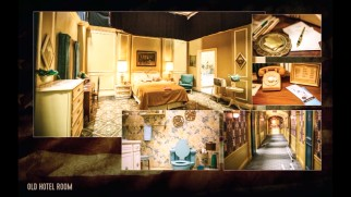 "Photos show off the production design for the old hotel room in ""Making the American Dream."""