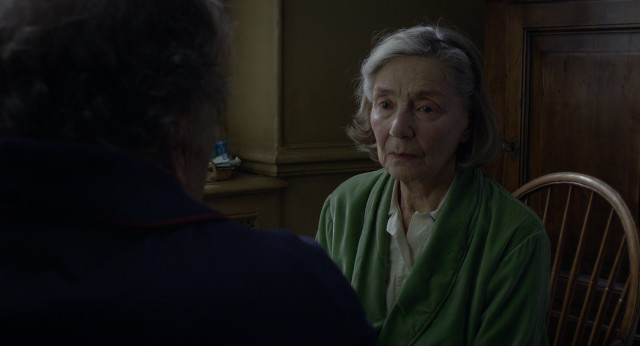 Anne Laurent (Emmanuelle Riva) stares blankly off into space as the first indication that something is wrong with her.