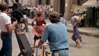 "A behind-the-scenes teaser trailer supplies the disc's only video glimpse at the making of ""Annie."""