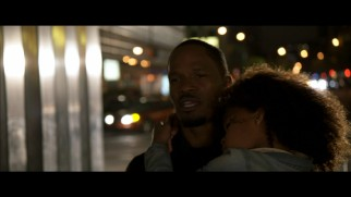 "Will Stacks (Jamie Foxx) sings the deleted song ""Something Was Missing"" while carrying a sleeping Annie home."