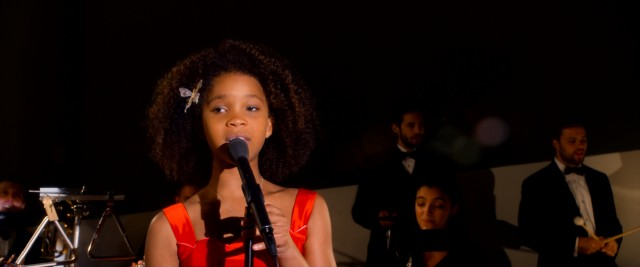 "Golden Globe nominee Quvenzhané Wallis sings the Golden Globe-nominated original song ""Opportunity"" in 2014's ""Annie."""