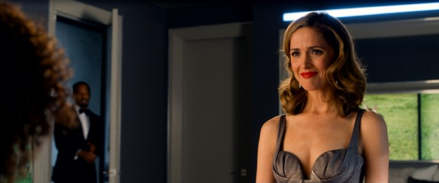 Shy, saintly personal assistant Grace (Rose Byrne) dresses to impress Will Stacks.