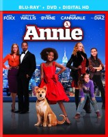 Annie (2014) Blu-ray + DVD + Digital HD combo pack cover art -- click to buy from Amazon.com