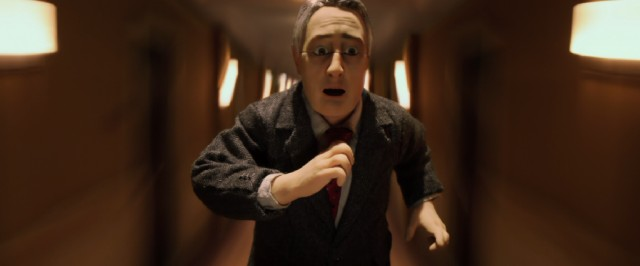"Michael Stone runs through the hallways of the Fregoli hotel in ""Anomalisa."""