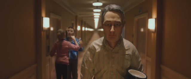 "Michael Stone walks down the hallway of the Hotel Fregoli to fill up his ice bucket in ""Anomalisa."""