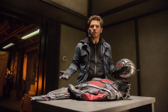 Scott Lang (Paul Rudd) isn't sure he's cut out for the size-altering Ant-Man suit and responsibility that comes with it.
