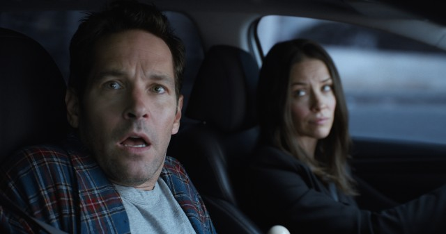"Scott Lang (Paul Rudd) gets busted out of house arrest by Hope van Dyne (Evangeline Lilly) to help set things right with her father's company in Marvel's ""Ant-Man and the Wasp."""