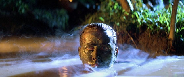 "Captain Willard (Martin Sheen) emerges from a Cambodian river, his face covered in mud, in the rousing finale of ""Apocalypse Now."""