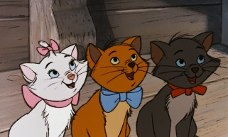 "Kittens Marie, Toulouse, and Berlioz add cuteness to ""The Aristocats."""
