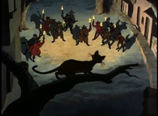"An angry mob with torches and guns direct hate towards ""The Great Cat Family"" in this ""Disneyland"" animated history of the feline."
