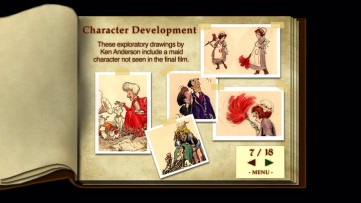 The Aristocats Scrapbook of character development art and many behind-the-scenes photos remains present as a DVD exclusive.