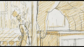 Homily is frightened by a hand bigger than her in the storyboard version of the film.