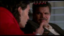 "Among the deleted scenes is this extension, in which Arthur's manservant Bitterman (Luis Guzmán) offers his guidance within a replica of the ""Back to the Future"" DeLorean."
