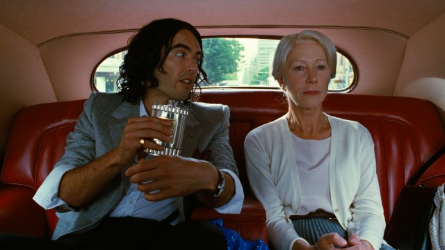 "Russell Brand plays rich drunk Arthur Bach and Helen Mirren is his nanny Hobson in the 2011 remake of ""Arthur."""