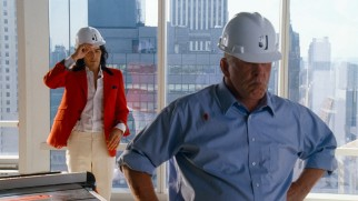 Nick Nolte plays construction magnate Bruce Johnson, Arthur's frightening would-be father-in-law.